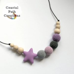 The 'Aire' (Purple) Crochet Necklace