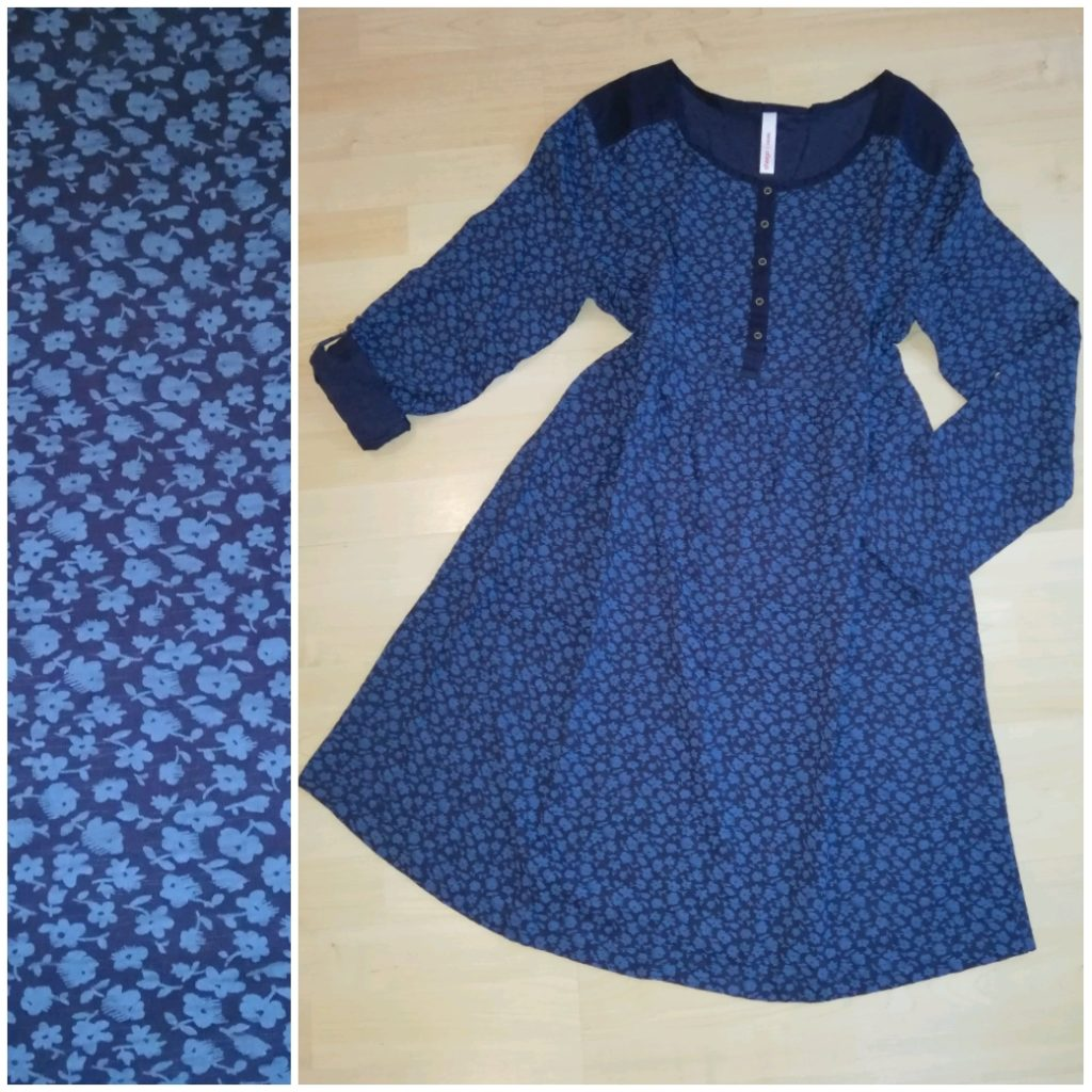 6 Navy cotton button dress
