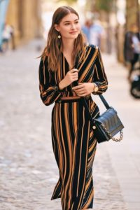Next Black-Tan wrap dress