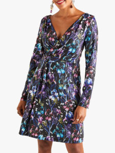 Yumi Iris Jersey Wrap Dress