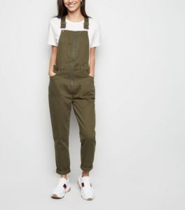 new loo khaki-zip-front-utility-dungarees