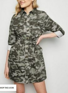 new look camo dress