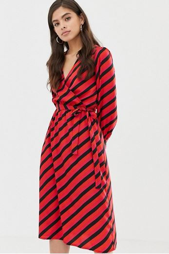 influence wrap midi dress