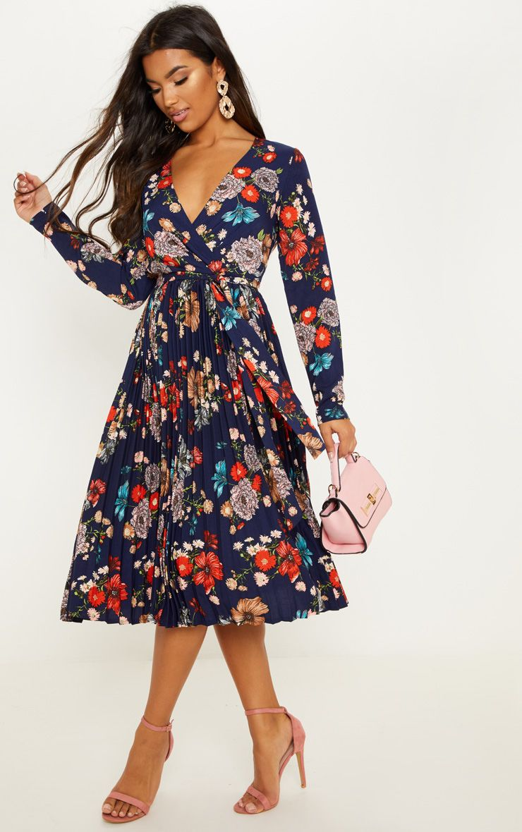 plt pleated floral dress