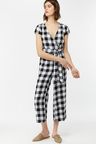 Monsoon gingham jumpsuit
