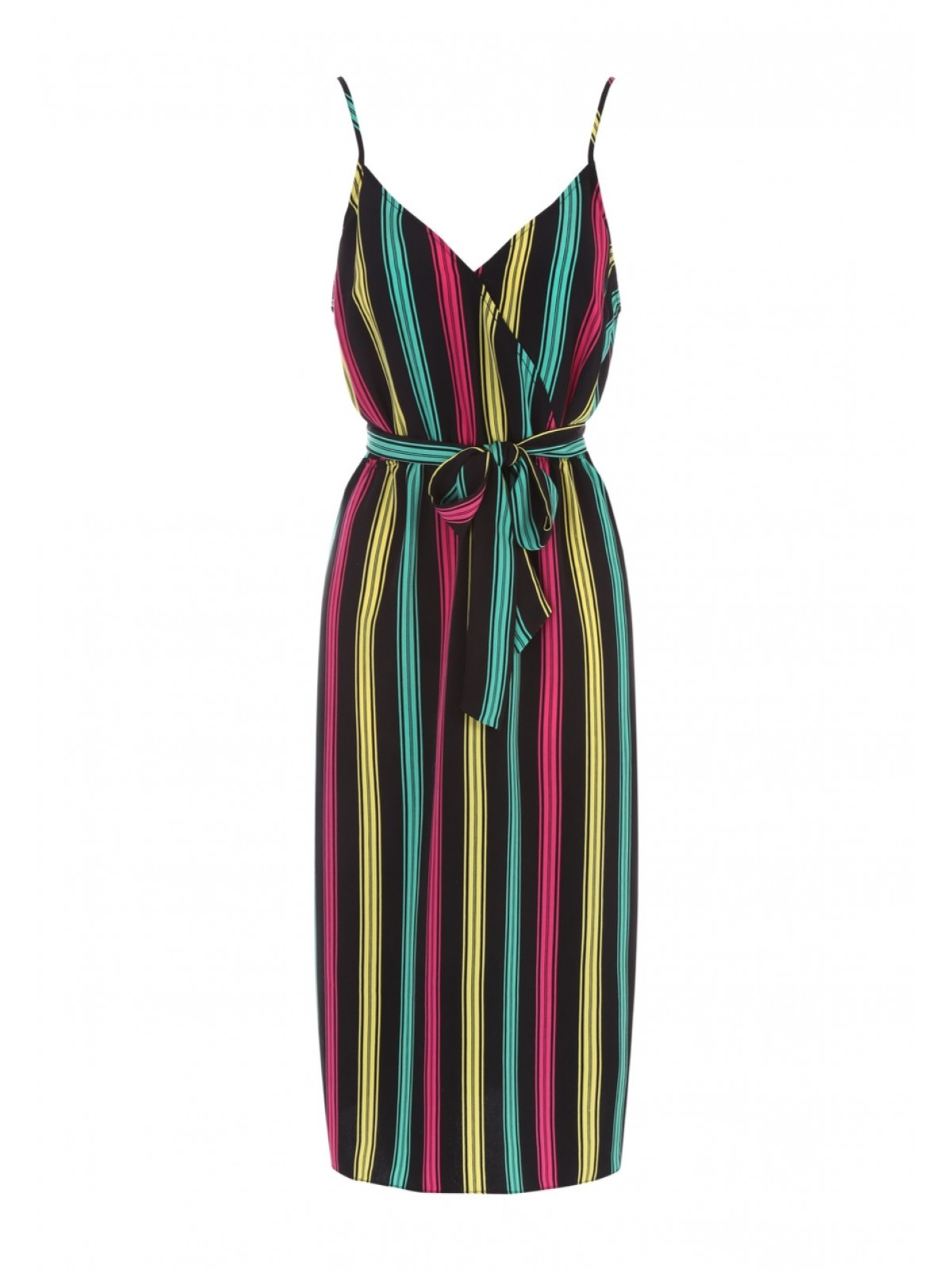 Peacocks Womens Multicolour Stripe Wrap Dress