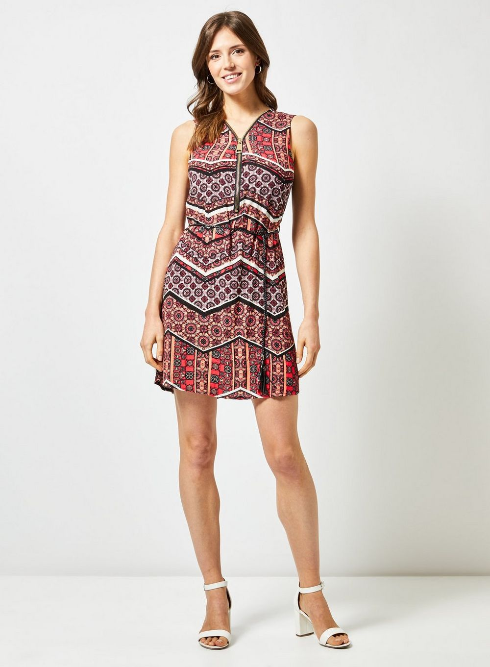 billie & blossom coral tie dress