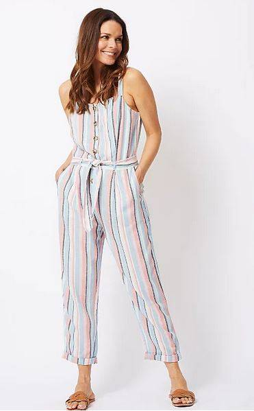 George striped jumpsuit