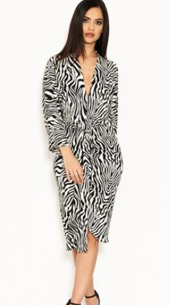 ax paris zebra dress