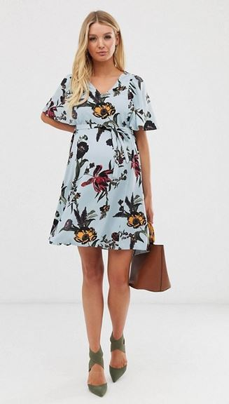 Mamalicious flutter sleeve dress
