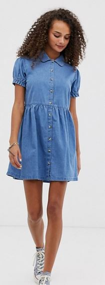 asos denim mini dress