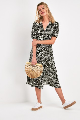 next wrap dress dalmatian