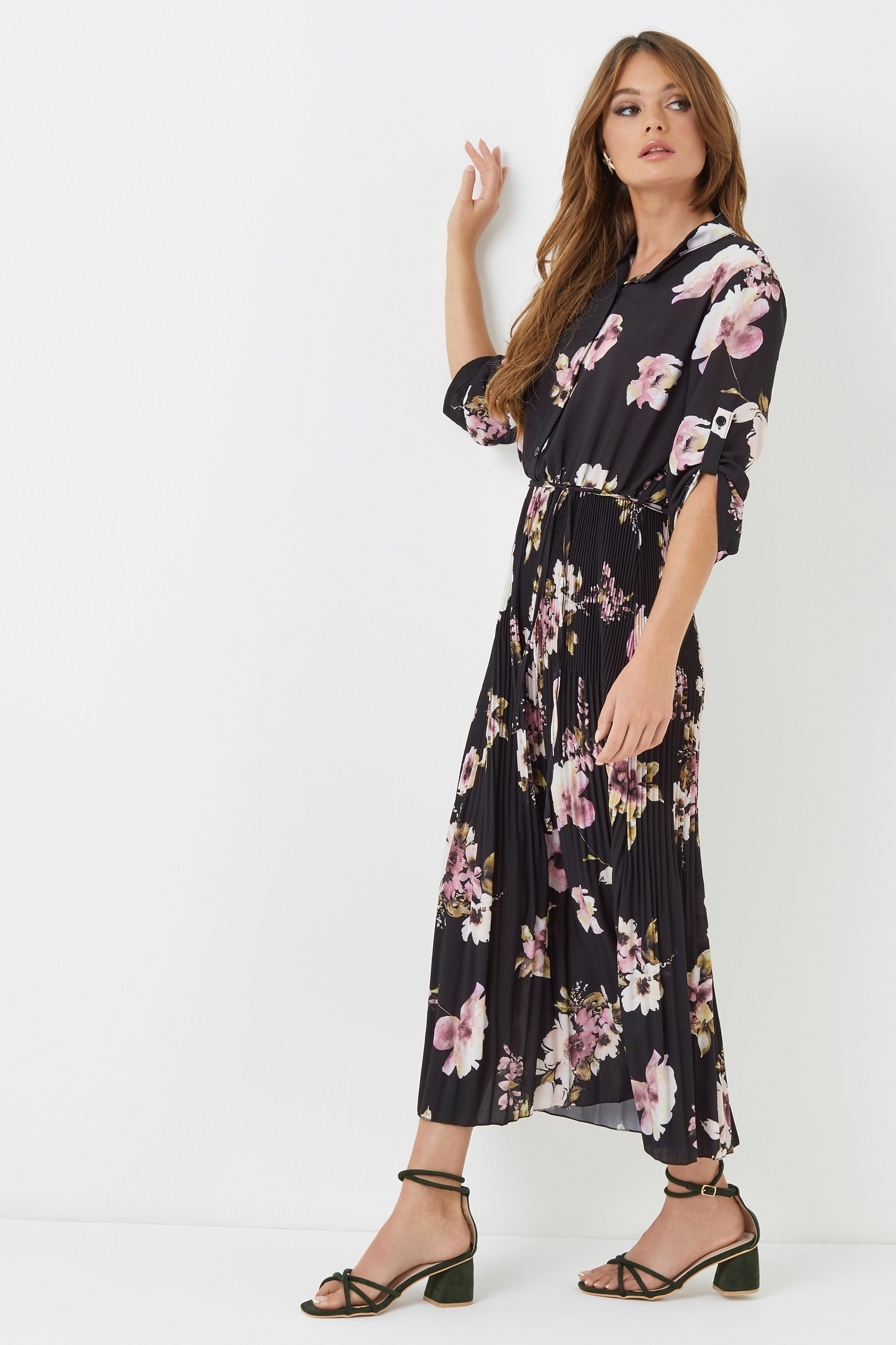 Boohoo pleated maxi