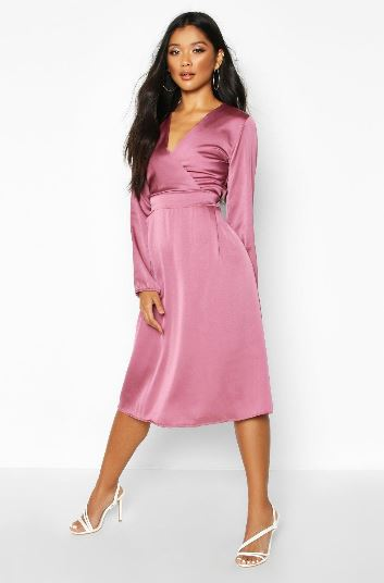 boohoo balloon sleeve dress