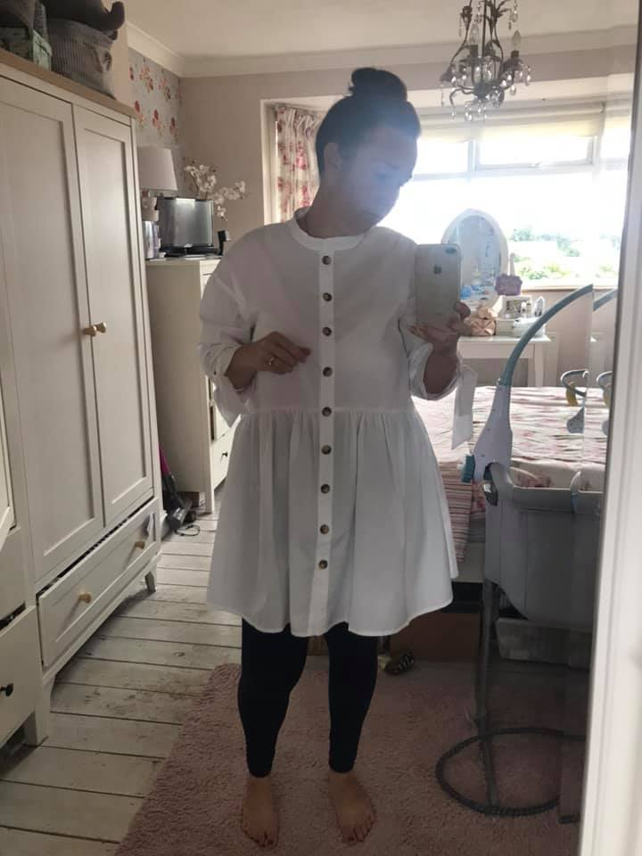 hollie white-mjasiri asos smock dress