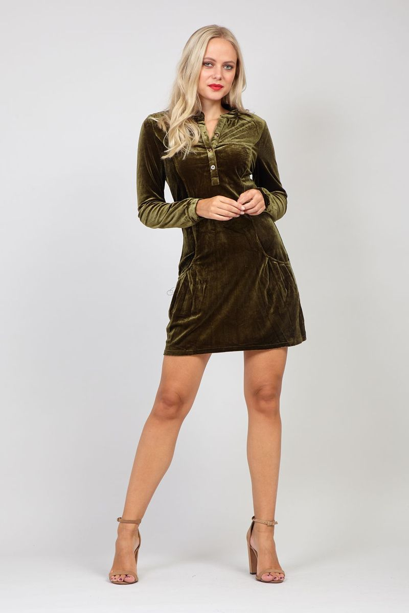 izabel london velour dress