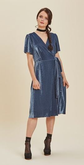 Joanie harley velvet wrap dress