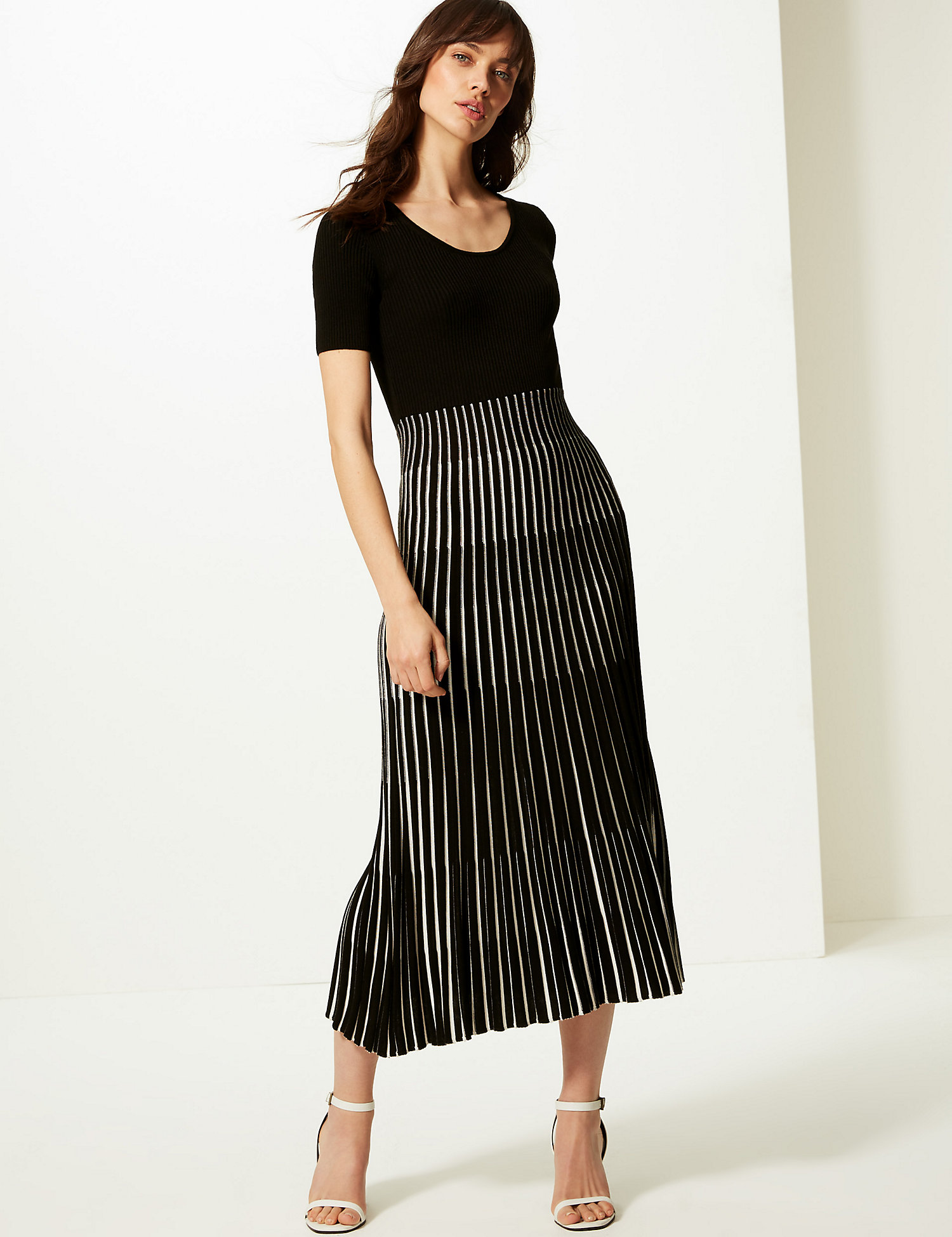 m&s ribbed knit dress