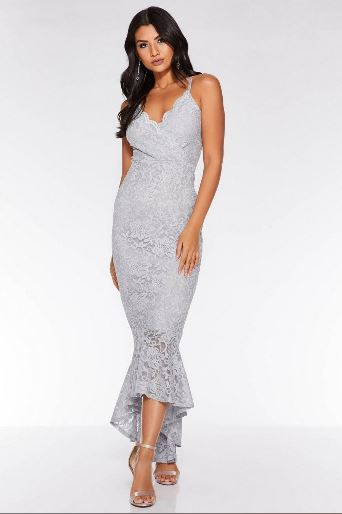 quiz grey glitter dress