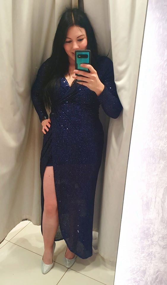 jade rose quiz navy sequin maxi