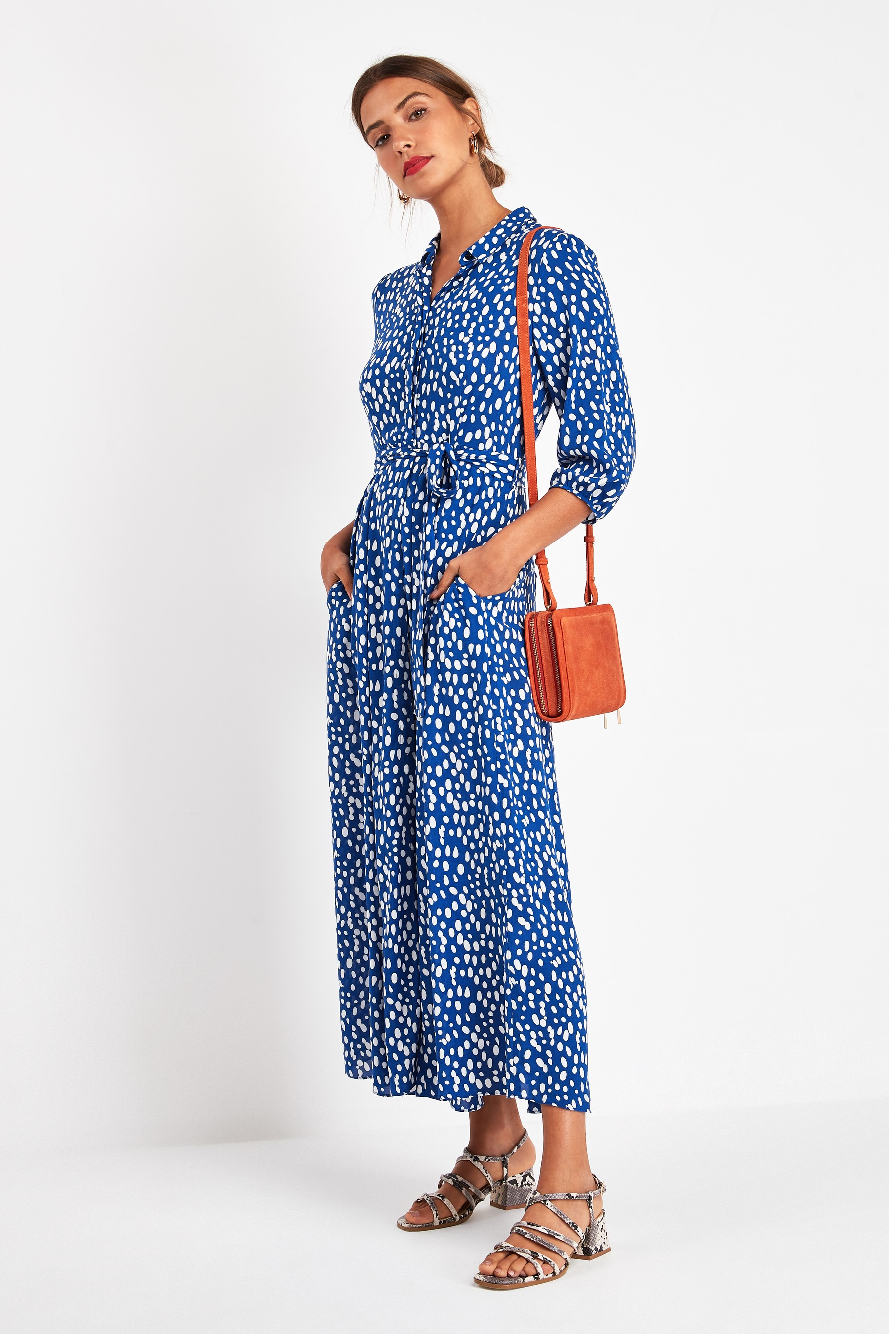 next belted maxi dress