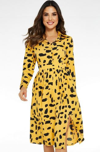 quiz animal mustard dress